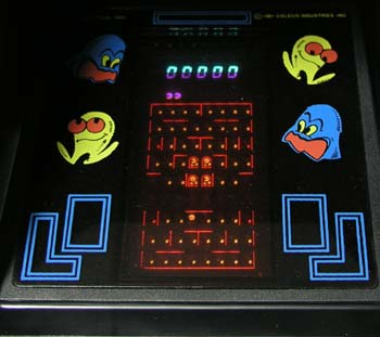 Pacman Table Game >> Coleco Game Repair (Pac Man, Ms. Pac Man, Donkey Kong ...